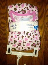 NWT GIRLS 2-PIECE THERMAL UNDERWEAR SET PINK & BROWN HEARTS TOTAL GIRL XS 4/5