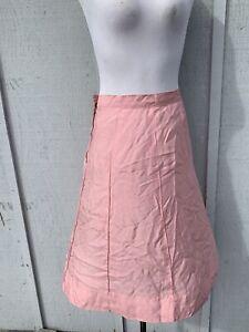 pink 100/% silk woman Vintage maxi