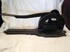 Antique 1800's Cast Iron RJR Tobacco Company Browns Mule Plug Tobacco Cutter