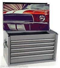 Rojo Mustang Caja de herramientas de la etiqueta engomada
