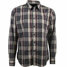 NEW MENS VOLCOM X-FACTOR PLAID LONG SLEEVE BUTTON UP SHIRT CABERNET SMALL