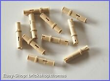 Lego Technic 10 x Verbinder beige - 32556 - Connector Pins Tan - NEU / NEW