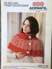 Adriafil Knitting Pattern: Ladies Shoulder Warmer, Sir Biss Yarn S/M L/XL