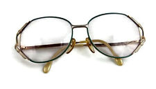 Vintage Euroline Exclusive Womens Wire and Green Eyeglasses Italy 130 451 x39