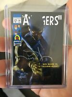 2018 UD Marvel Masterpieces SS Auto #2 Yellowjacket Base Card ser 05/10