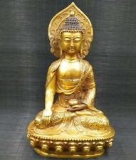 China Tibetan Buddhism Brass statue Sakyamuni