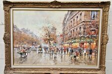 """ANTOINE BLANCHARD FRENCH O/C PAINTING WITH PROVENANCE  23""""1/2 BY 36"""" MAGNIFICENT"""