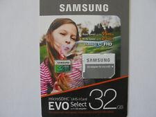 Samsung EVO Select 32GB, Class 10 20MB/s - MicroSDHC Card - MB-ME32GA/AM