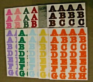 """Creative Memories Stickers ABC's length 3/4"""" - You pick Color  -  Free Shipping!"""
