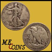 1936 S Walking Liberty Half Dollar , CIRCULATED , 90% Silver US Coin