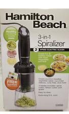 Hamilton Beach 3-in-1 Spiralizer 2 Speed Electric Slicer - New in Box