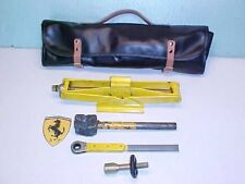 Ferrari 512BB Jack Kit_Roll Bag_Ratchet_Extension Tool_Hammer_365BB_400_OEM