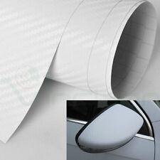Rotolo pellicola fibra carbonio 3D BIANCO adesivo sticker moto auto car 50x70cm