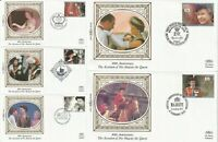 6 FEB 1992 ACCESSION ALL 5 BENHAM SMALL SILK  BS 16a / 20a FIRST DAY COVERS