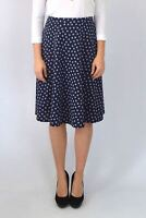 WHITE LABEL Navy Polka Dot A Line Skirt Knee length | SALE | Was £22