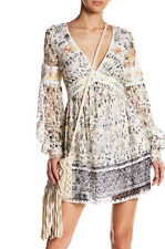 NWT FREE PEOPLE Cherry Blossom Embroidered Lace Mini Dress Ivory Com Size 4 $168