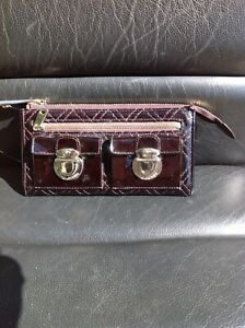 Marc Jacobs Collection Merlot Diamond Quilted Wallet