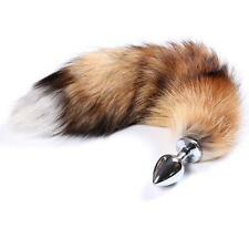 Funny Female Male Stainless Steel Metal Plug With Fox Tail Valentine's Day Gift