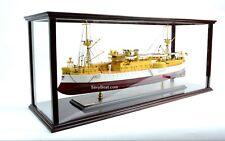 "Display Case for Container Ship, Battleship, Tanker Wooden Ship Model 40"""