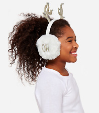 Justice Girl's 'OH DEER' Antler Earmuffs New with Tags
