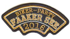 FAAKER SEE Biker Party * 2016 * Aufnäher Patch