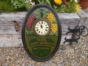 Lovely Vintage Country Corner Oval Fruit Clock B1/8