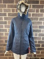 NWT The North Face HARWAY Navy Blue Insulated Hooded Parka Women's Size S