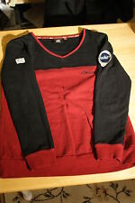 Official Licenced Indian Motorcycle L Red & Black Rugby V-Neck Shirt