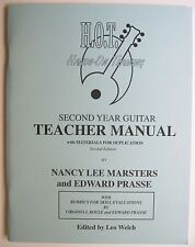 H O T Hands On Training Second Year Guitar Teacher Manual Proficiency Tests Plan