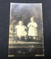 Antique Postcard Children Weimar Texas Real Photo Post Card RPPC 1900's AZO