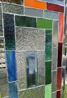 """Gorgeous Stained Glass Window W Beveled  Corners & Architectural Glass 23x14"""" 🌈"""