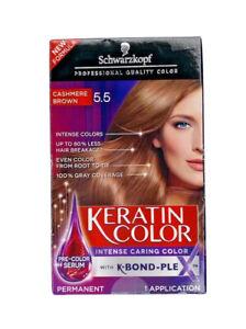 Schwarzkopf Keratin Color Permanent Hair Color 5.5 Cashmere Brown