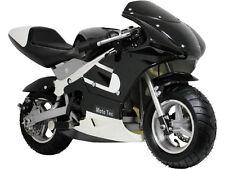 SUPER COOL MOTOTEC BLACK GAS POCKET MOTORCYCLE KIDS SCOOTER DIRT BIKE NEW