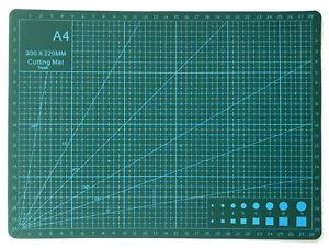 A4 Cutting Mat Non Slip Self Healing Knife Board Art Craft Grid Line Guide Green