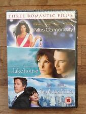 Sandra Bullock Collection:Two Weeks Notice/Lake House/Miss Congeniality(3DVD)New