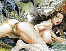 CAVEWOMAN PREHISTORIC PINUPS #4, Budd ROOT, SE Nude Cover, RARE! NM New (2004)