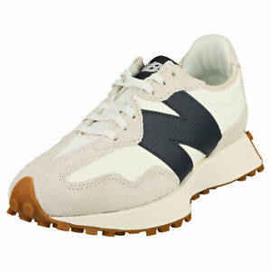 New Balance 327 Womens White Navy Leather Fashion Trainers