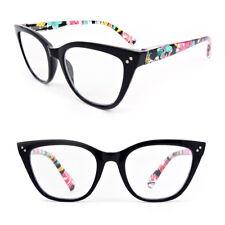 Oversized Cat Eye Frame Spring Hinges Women's Reading Glasses