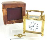 ORIGINAL CASED FRENCH CARRIAGE CLOCK ** UNUSUAL SHAPE **
