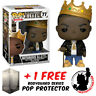 FUNKO POP NOTORIOUS B.I.G. WITH CROWN #77 VINYL FIGURE + FREE POP PROTECTOR