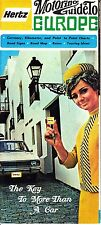Hertz Motoring Guide to Europe Currency Road Map Rates 1969 Vintage Brochure