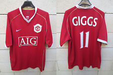 Maillot MANCHESTER UNITED Nike GIGGS n°11 shirt football AIG rouge L jersey