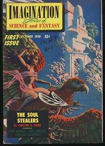 IMAGINATION SCIENCE FICTION #1 OCT 1950 CLASSIC HANNES BOK COVER 1st Issue