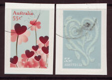"AUSTRALIA 2009 ""WITH LOVE"" SELF ADHESIVE WITH EMBELLISHMENTS FINE USED"