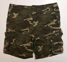 Faded Glory Camo Cargo Shorts Men's Size 42 EUC