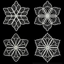 HEAVENLY WHITE SNOWFLAKES- 36 MACHINE EMBROIDERY DESIGNS (AZEB)