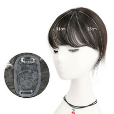 100% Real Remy Human Hair Topper Cover Gray Hair Hairpiece Top Piece 25cm Bang