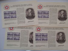 Bureau Of Engraving & Printing - battle of brooklyn Stamp Lot Of 4 Sheets
