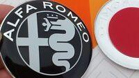2x Alfa Romeo NEW BLACK Emblem Badge 147 156 159 Brera Mito Giulietta Front Back