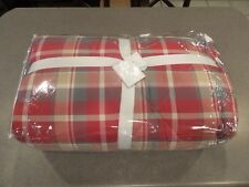 5Pc Pottery Barn Bowman Plaid Reversible Queen Comforter Quilt Rare Christmas